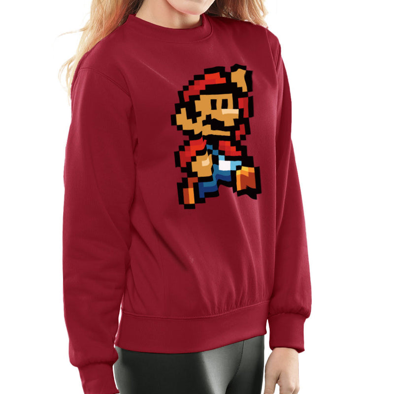 Super Mario Pixel Women's Sweatshirt by DeMilburn - Cloud City 7