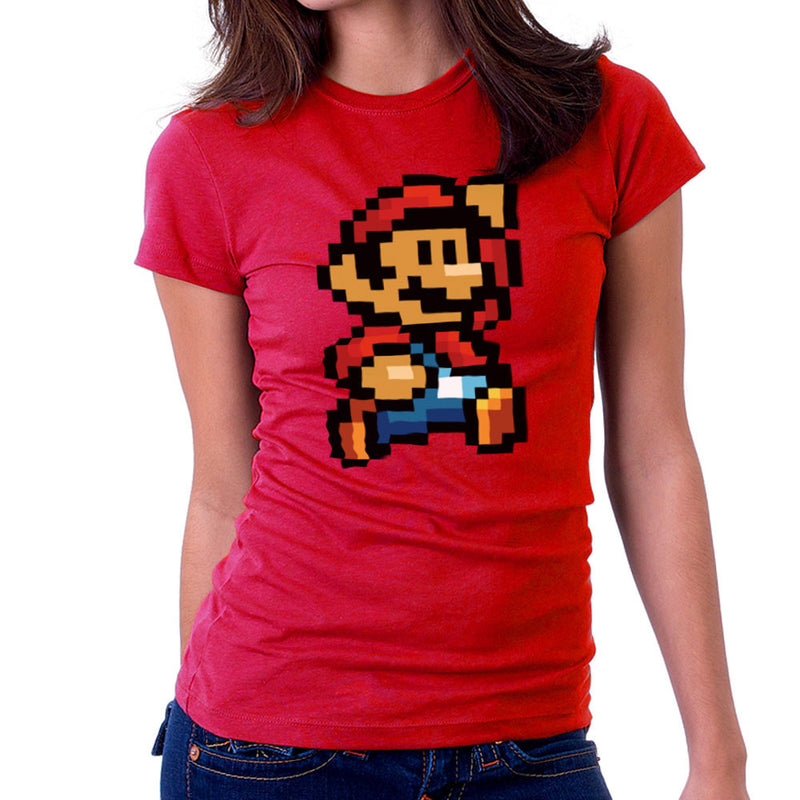 Super Mario Pixel Women's T-Shirt by DeMilburn - Cloud City 7