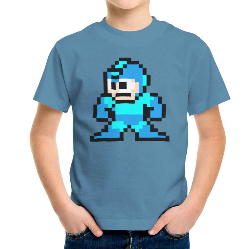 Megaman Pixel Kid's T-Shirt Kid's Boy's T-Shirt Cloud City 7 - 9