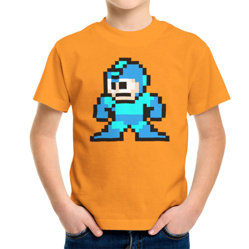 Megaman Pixel Kid's T-Shirt Kid's Boy's T-Shirt Cloud City 7 - 16