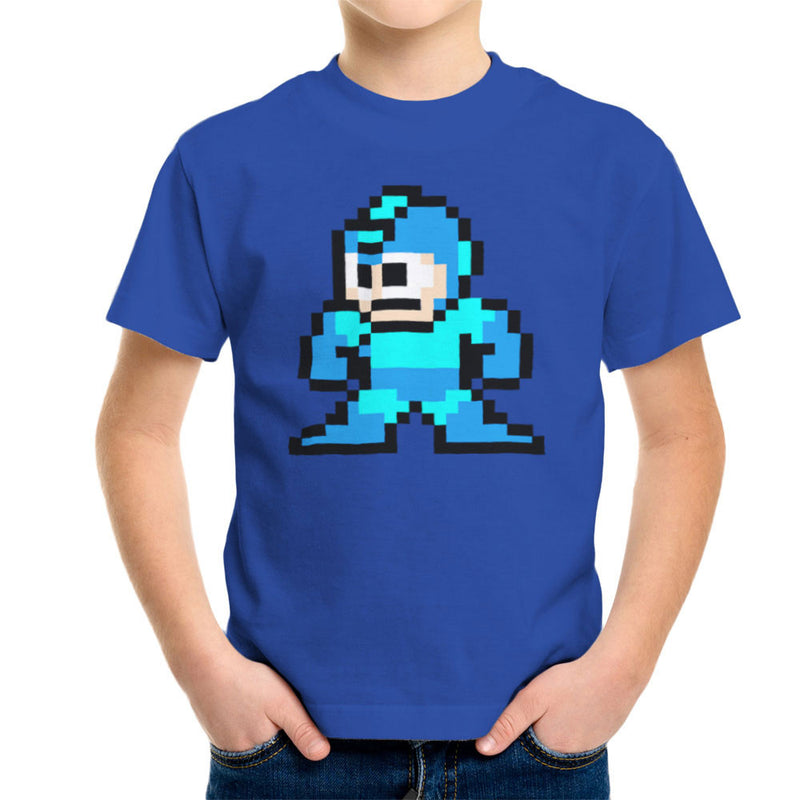 Megaman Pixel Kid's T-Shirt Kid's Boy's T-Shirt Cloud City 7 - 8