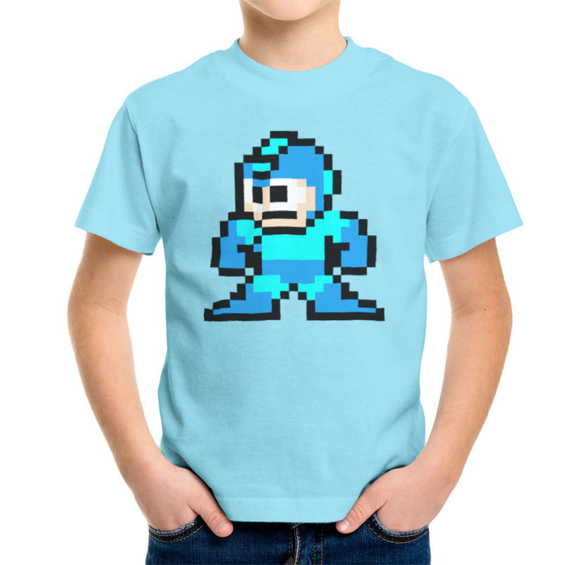 Megaman Pixel Kid's T-Shirt Kid's Boy's T-Shirt Cloud City 7 - 11
