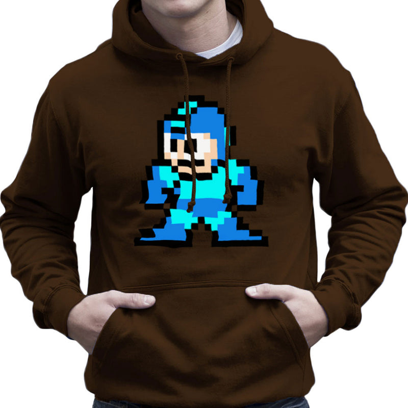 Megaman Pixel Men's Hooded Sweatshirt by DeMilburn - Cloud City 7