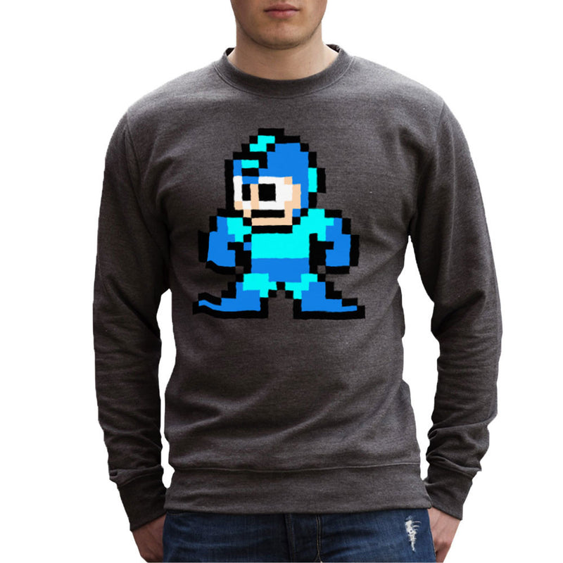 Megaman Pixel Men's Sweatshirt by DeMilburn - Cloud City 7