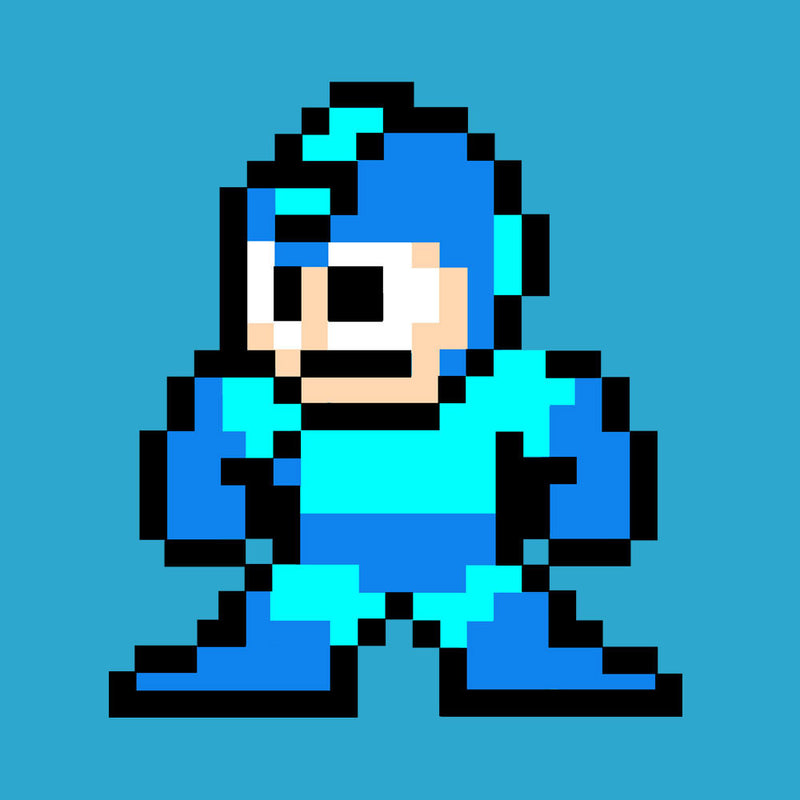 Megaman Pixel by DeMilburn - Cloud City 7