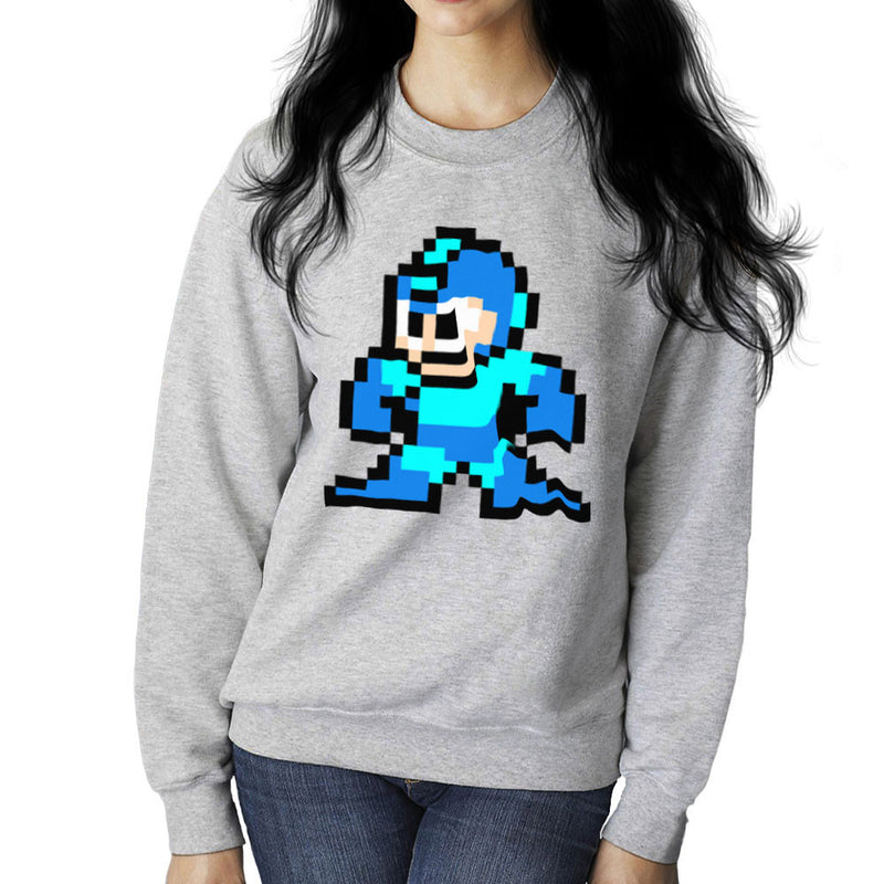 Megaman Pixel Women's Sweatshirt Women's Sweatshirt Cloud City 7 - 5