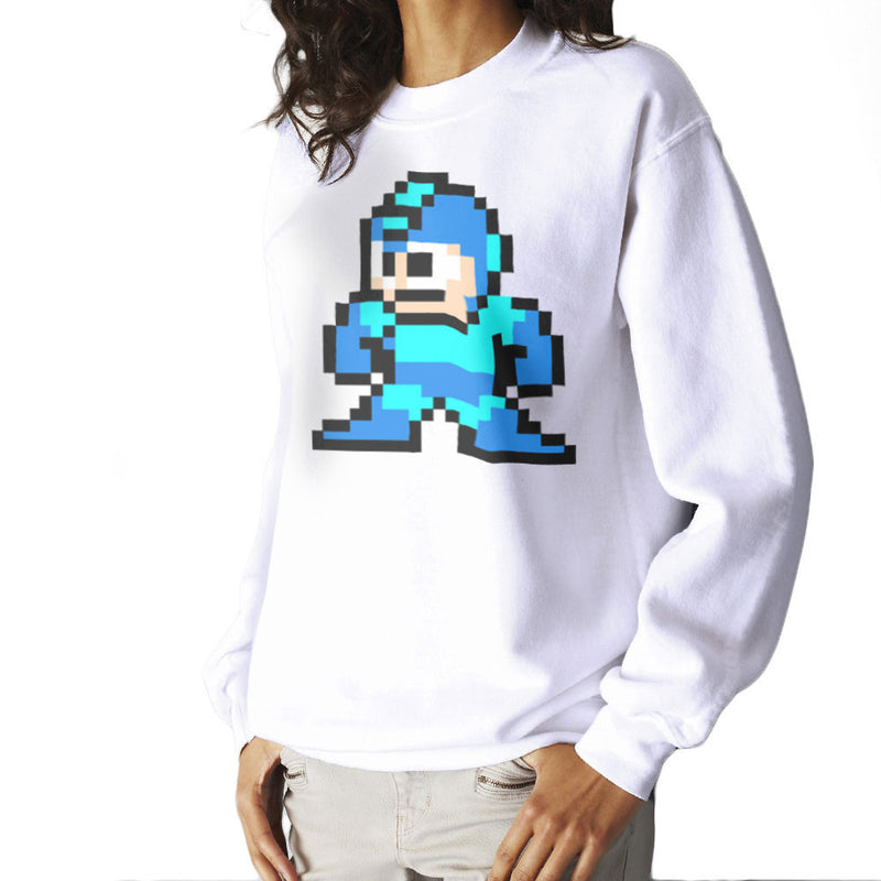 Megaman Pixel Women's Sweatshirt Women's Sweatshirt Cloud City 7 - 6