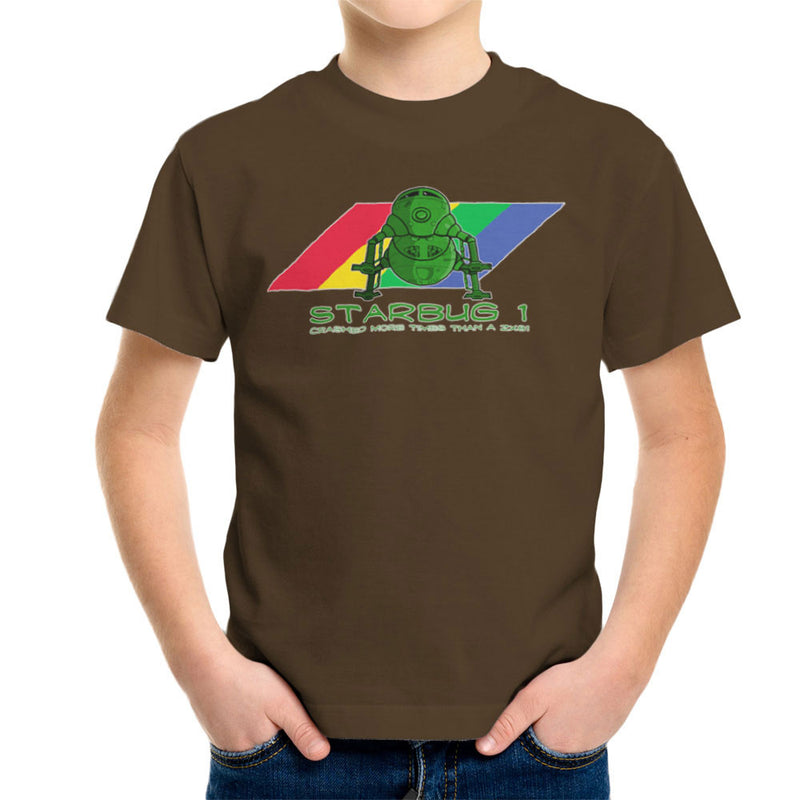 Red Dwarf Starbug 1 Crashed More Than ZX81 Spectrum Kid's T-Shirt by DeMilburn - Cloud City 7