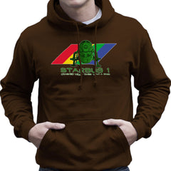 Red Dwarf Starbug 1 Crashed More Than ZX81 Spectrum Men's Hooded Sweatshirt Men's Hooded Sweatshirt Cloud City 7 - 12