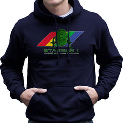 Red Dwarf Starbug 1 Crashed More Than ZX81 Spectrum Men's Hooded Sweatshirt Men's Hooded Sweatshirt Cloud City 7 - 7