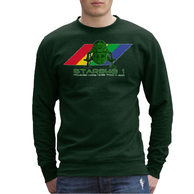 Red Dwarf Starbug 1 Crashed More Than ZX81 Spectrum Men's Sweatshirt Men's Sweatshirt Cloud City 7 - 13