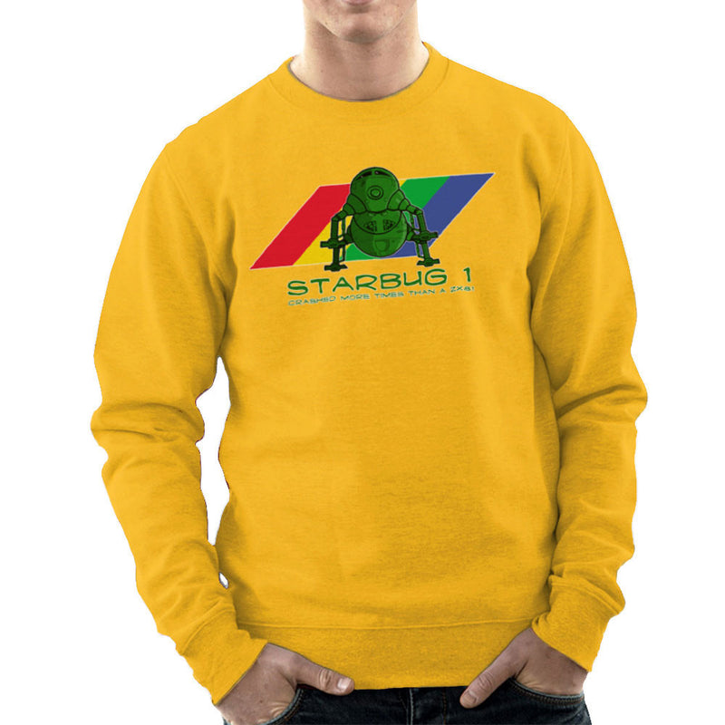 Red Dwarf Starbug 1 Crashed More Than ZX81 Spectrum Men's Sweatshirt Men's Sweatshirt Cloud City 7 - 18