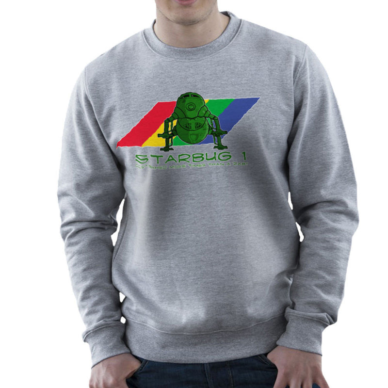 Red Dwarf Starbug 1 Crashed More Than ZX81 Spectrum Men's Sweatshirt by DeMilburn - Cloud City 7