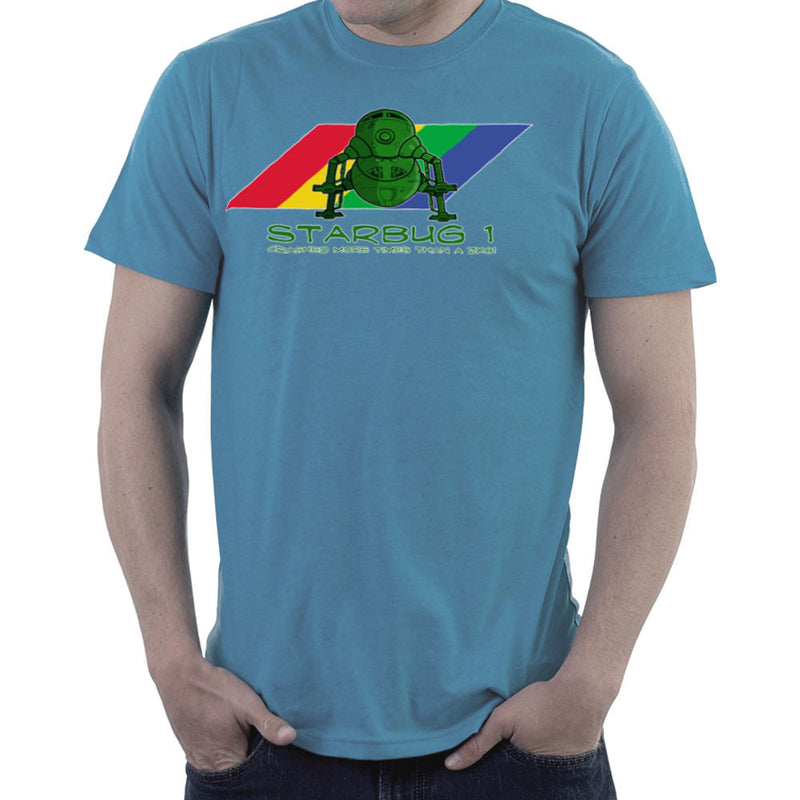 Red Dwarf Starbug 1 Crashed More Than ZX81 Spectrum Men's T-Shirt by DeMilburn - Cloud City 7