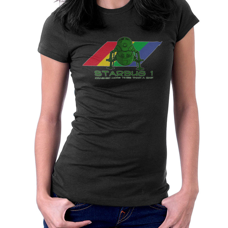 Red Dwarf Starbug 1 Crashed More Than ZX81 Spectrum Women's T-Shirt Women's T-Shirt Cloud City 7 - 2