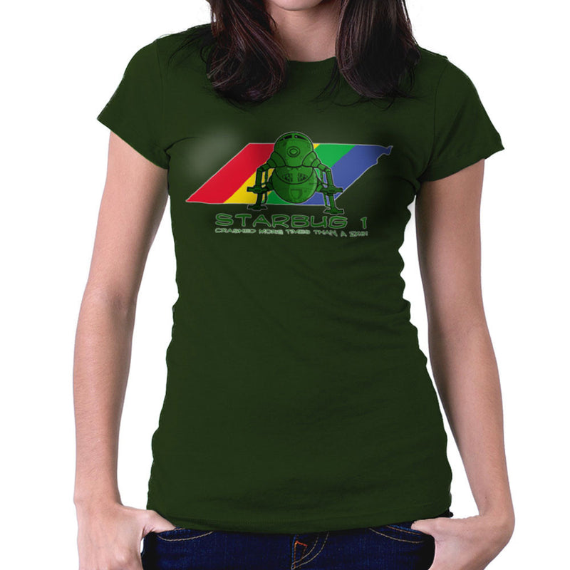 Red Dwarf Starbug 1 Crashed More Than ZX81 Spectrum Women's T-Shirt Women's T-Shirt Cloud City 7 - 13