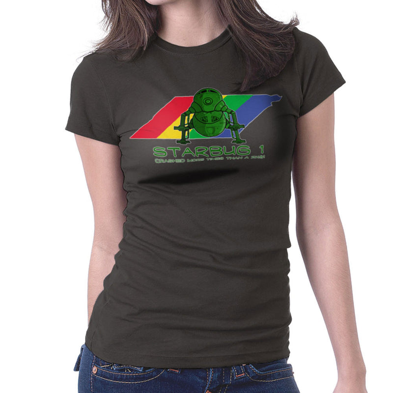Red Dwarf Starbug 1 Crashed More Than ZX81 Spectrum Women's T-Shirt by DeMilburn - Cloud City 7