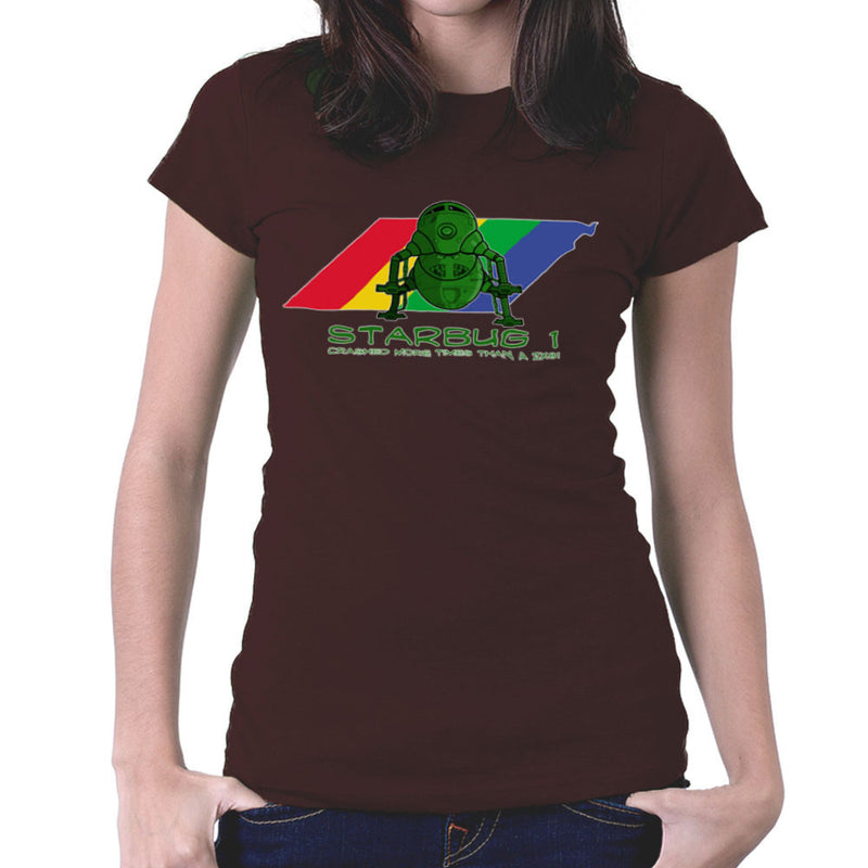 Red Dwarf Starbug 1 Crashed More Than ZX81 Spectrum Women's T-Shirt Women's T-Shirt Cloud City 7 - 12