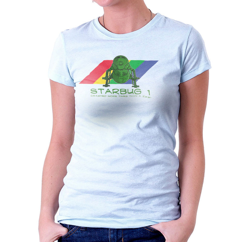 Red Dwarf Starbug 1 Crashed More Than ZX81 Spectrum Women's T-Shirt Women's T-Shirt Cloud City 7 - 11