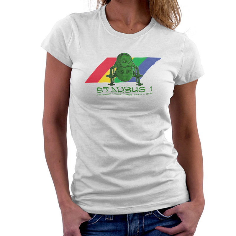 Red Dwarf Starbug 1 Crashed More Than ZX81 Spectrum Women's T-Shirt Women's T-Shirt Cloud City 7 - 6