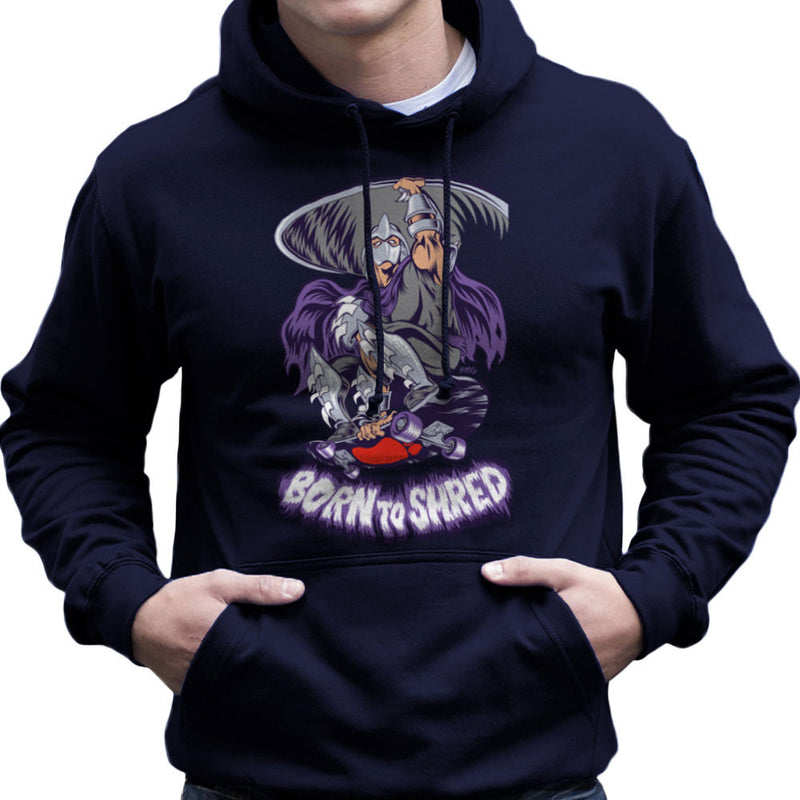 Born To Shred Teenage Mutant Ninja Turtles Skateboard Shredder Men's Hooded Sweatshirt by Rynoarts - Cloud City 7