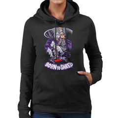 Born To Shred Teenage Mutant Ninja Turtles Skateboard Shredder Women's Hooded Sweatshirt Women's Hooded Sweatshirt Cloud City 7 - 2