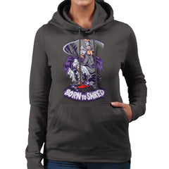 Born To Shred Teenage Mutant Ninja Turtles Skateboard Shredder Women's Hooded Sweatshirt Women's Hooded Sweatshirt Cloud City 7 - 4