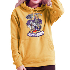 Born To Shred Teenage Mutant Ninja Turtles Skateboard Shredder Women's Hooded Sweatshirt Women's Hooded Sweatshirt Cloud City 7 - 18