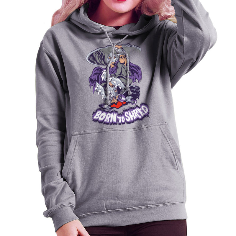 Born To Shred Teenage Mutant Ninja Turtles Skateboard Shredder Women's Hooded Sweatshirt Women's Hooded Sweatshirt Cloud City 7 - 5