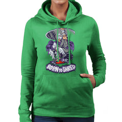 Born To Shred Teenage Mutant Ninja Turtles Skateboard Shredder Women's Hooded Sweatshirt Women's Hooded Sweatshirt Cloud City 7 - 14