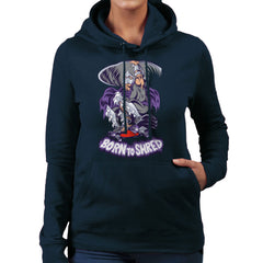 Born To Shred Teenage Mutant Ninja Turtles Skateboard Shredder Women's Hooded Sweatshirt Women's Hooded Sweatshirt Cloud City 7 - 7