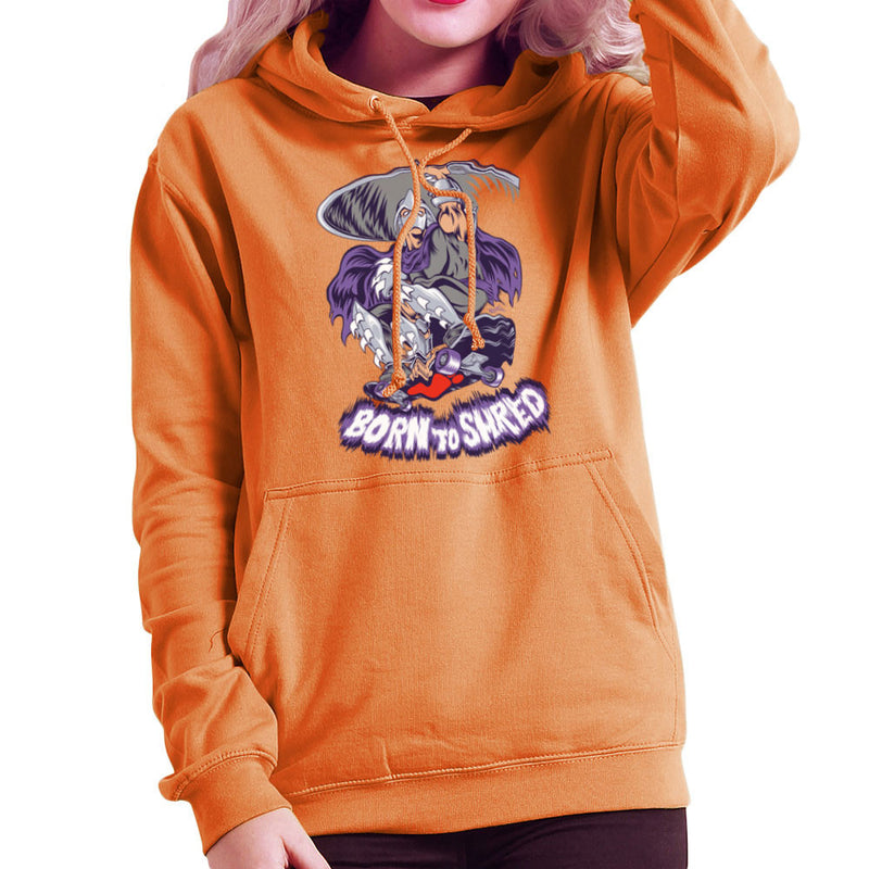 Born To Shred Teenage Mutant Ninja Turtles Skateboard Shredder Women's Hooded Sweatshirt by Rynoarts - Cloud City 7