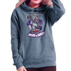 Born To Shred Teenage Mutant Ninja Turtles Skateboard Shredder Women's Hooded Sweatshirt Women's Hooded Sweatshirt Cloud City 7 - 1