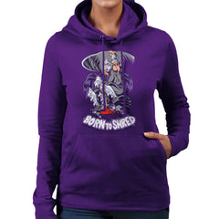 Born To Shred Teenage Mutant Ninja Turtles Skateboard Shredder Women's Hooded Sweatshirt Women's Hooded Sweatshirt Cloud City 7 - 19