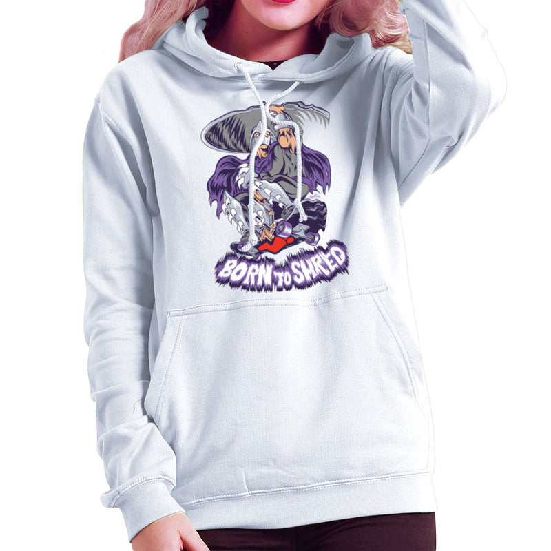 Born To Shred Teenage Mutant Ninja Turtles Skateboard Shredder Women's Hooded Sweatshirt Women's Hooded Sweatshirt Cloud City 7 - 6