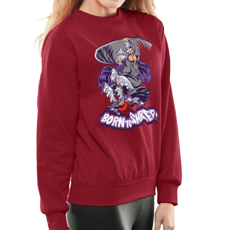 Born To Shred Teenage Mutant Ninja Turtles Skateboard Shredder Women's Sweatshirt Women's Sweatshirt Cloud City 7 - 15