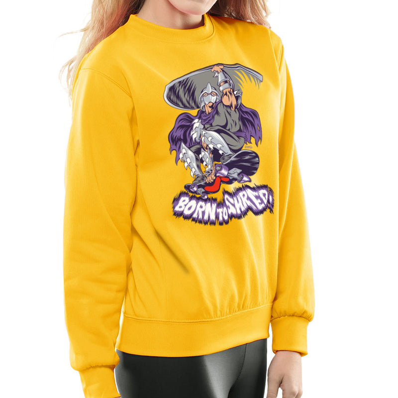 Born To Shred Teenage Mutant Ninja Turtles Skateboard Shredder Women's Sweatshirt Women's Sweatshirt Cloud City 7 - 18