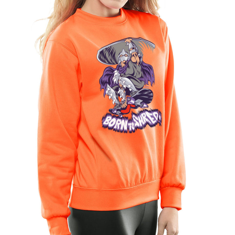 Born To Shred Teenage Mutant Ninja Turtles Skateboard Shredder Women's Sweatshirt by Rynoarts - Cloud City 7