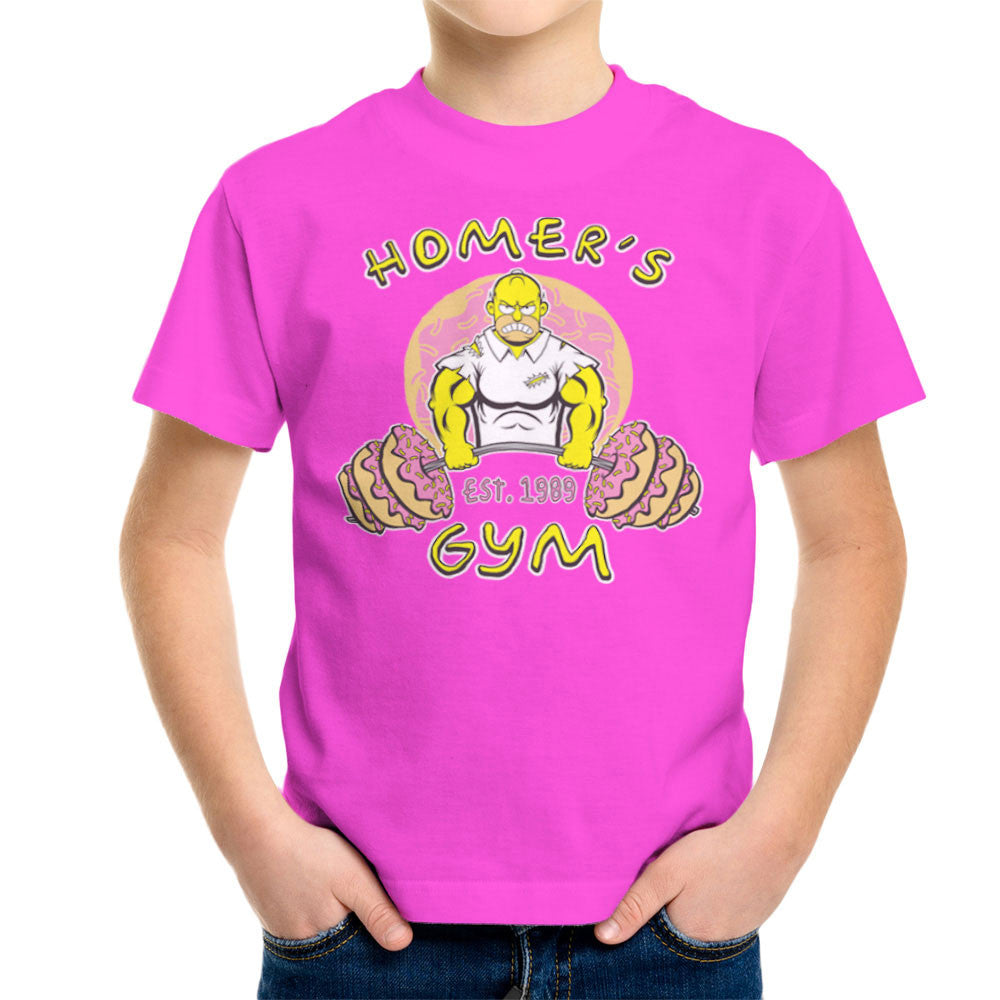 Homer's Gym est 1989 The Simpons Kid's T-Shirt Kid's Boy's T-Shirt Cloud City 7 - 19