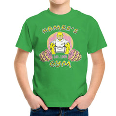 Homer's Gym est 1989 The Simpons Kid's T-Shirt Kid's Boy's T-Shirt Cloud City 7 - 14