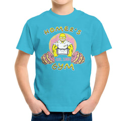 Homer's Gym est 1989 The Simpons Kid's T-Shirt Kid's Boy's T-Shirt Cloud City 7 - 1