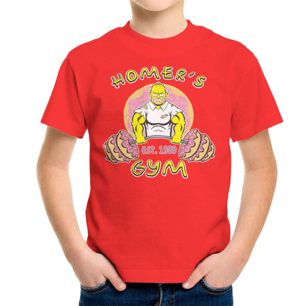 Homer's Gym est 1989 The Simpons Kid's T-Shirt Kid's Boy's T-Shirt Cloud City 7 - 15