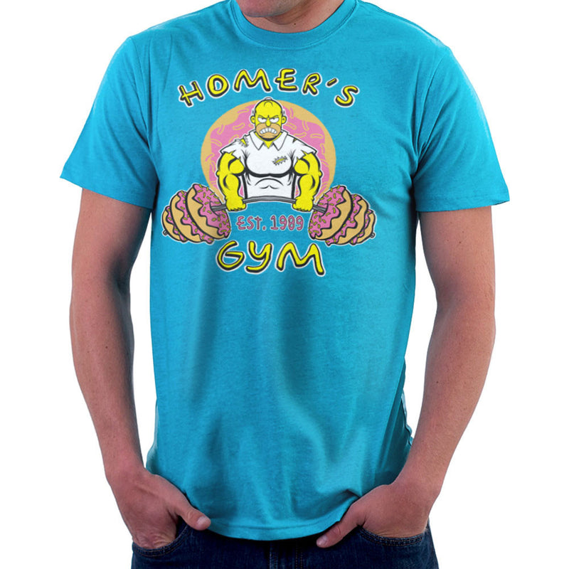 Homer's Gym est 1989 The Simpons Men's T-Shirt by Rynoarts - Cloud City 7