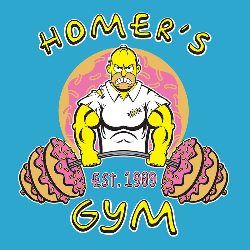 Homer's Gym est 1989 The Simpons Men's Sweatshirt by Rynoarts - Cloud City 7