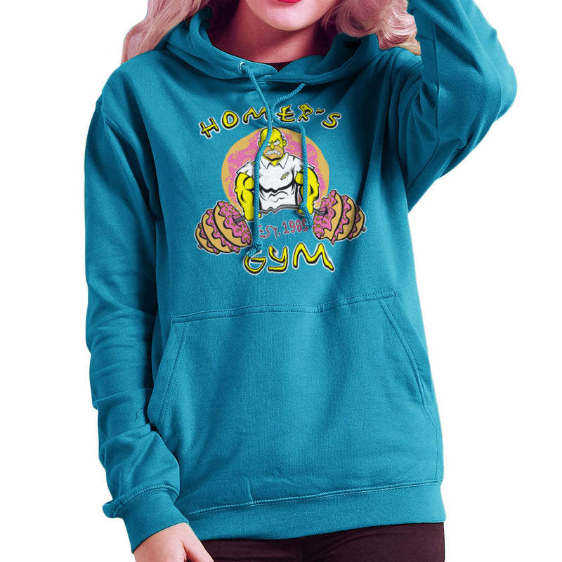 Homer's Gym est 1989 The Simpons Women's Hooded Sweatshirt by Rynoarts - Cloud City 7