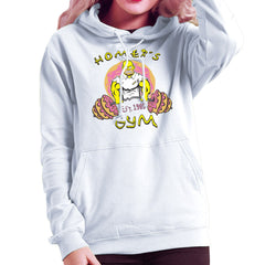 Homer's Gym est 1989 The Simpons Women's Hooded Sweatshirt Women's Hooded Sweatshirt Cloud City 7 - 6