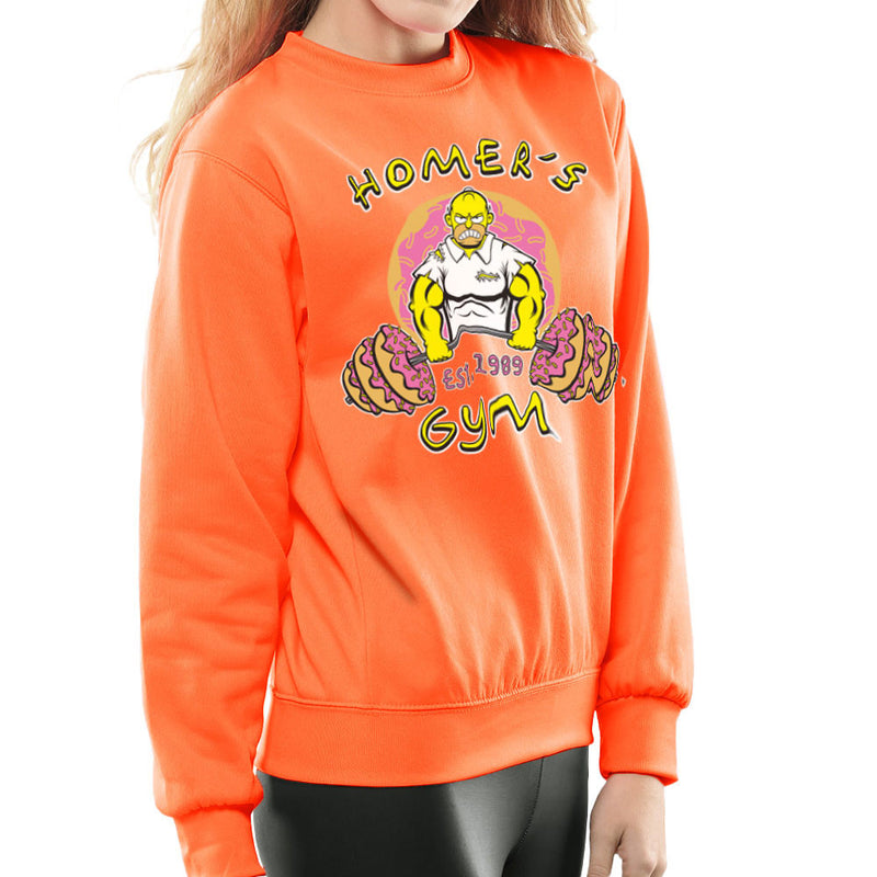 Homer's Gym est 1989 The Simpons Women's Sweatshirt by Rynoarts - Cloud City 7