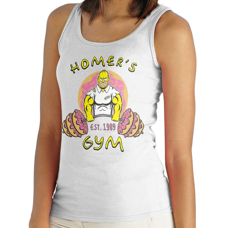 Homer's Gym est 1989 The Simpons Women's Vest by Rynoarts - Cloud City 7