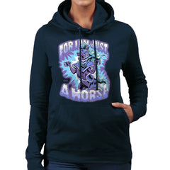 Bravest Warriors For I Am Just A Horse Women's Hooded Sweatshirt Women's Hooded Sweatshirt Cloud City 7 - 7