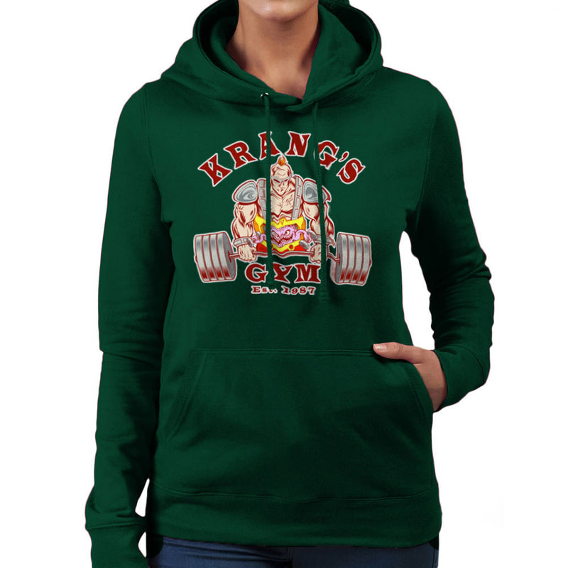 Krang's Gym est 1987 Teenage Mutant Ninja Turtles Women's Hooded Sweatshirt by Rynoarts - Cloud City 7